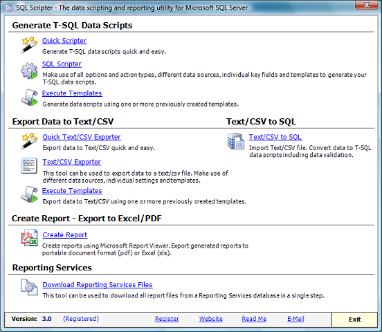 Click to view SQL Scripter screenshots